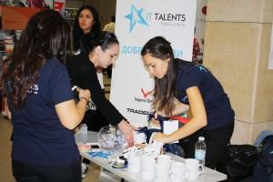 Щандът на IT Talents беше сред най-привлекателните на изложението.