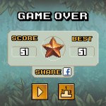 The game keeps track of your scores and submits them to the Leaderboards.