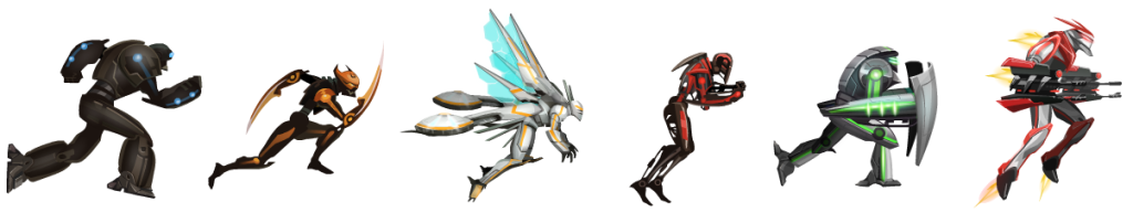 The six forms you can obtain in Cluster Six.