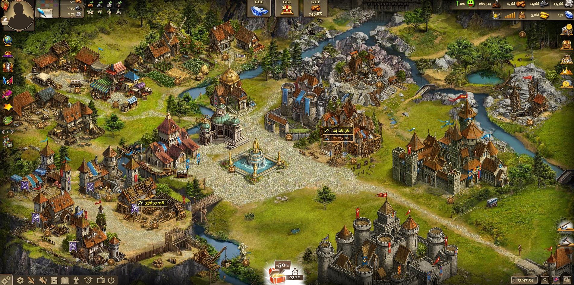 Imperia Online Upgrade Buildings