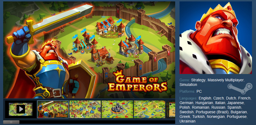 Game of Emperors in Steam