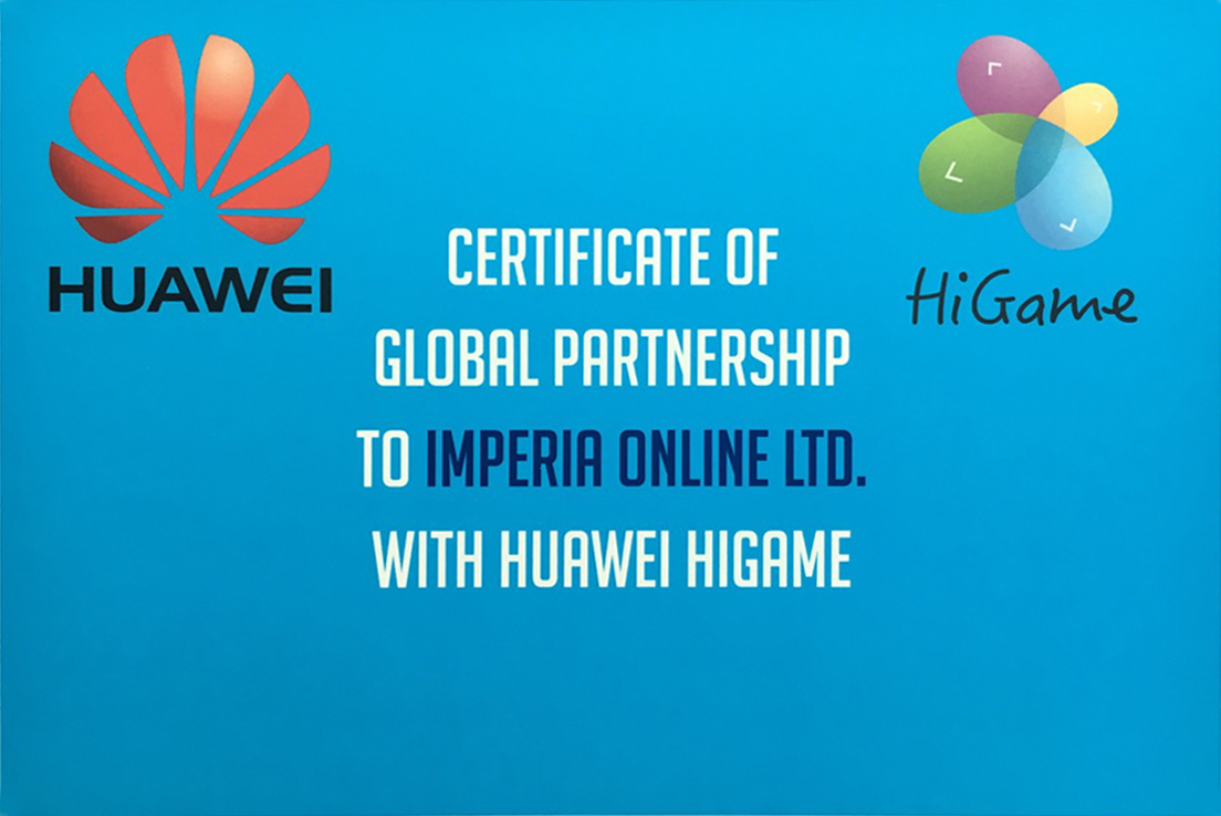 Certificate of Global Partnership IO - Huawei